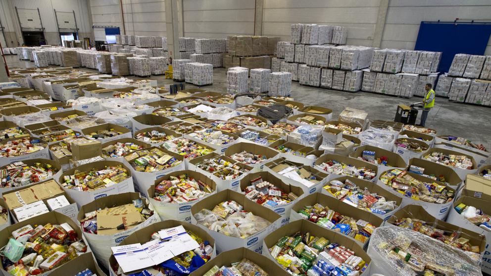 Una imatge dels aliments recollits durant el Gran Recapte de 2016