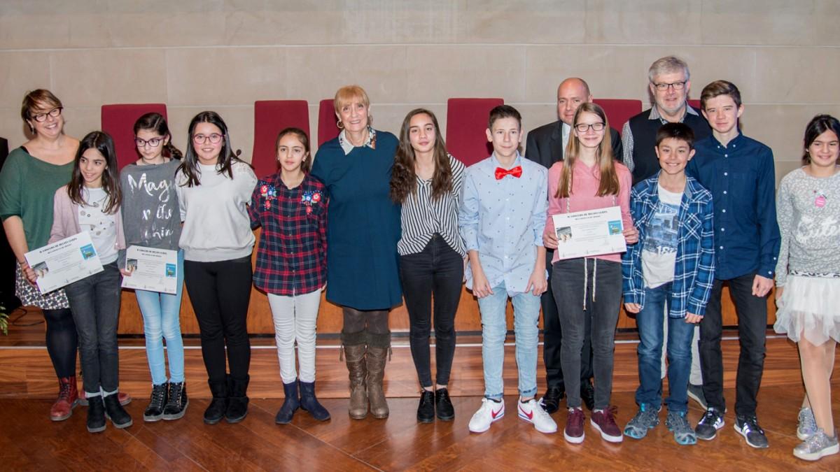 Els premiats en una foto de família on l'Abel Bonet és el segon per la dreta